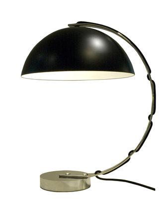 Luminaire - Lampes de table - Lampe de table London / H 45 cm - Original BTC - Noir / Pied chromé - Aluminium, Métal chromé