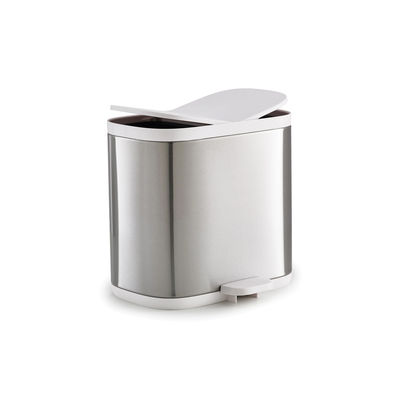 Furniture - Kids Furniture - Split Pedal bin - / 6 litres - 2 compartments by Joseph Joseph - White steel - Plastic material, Stainless steel