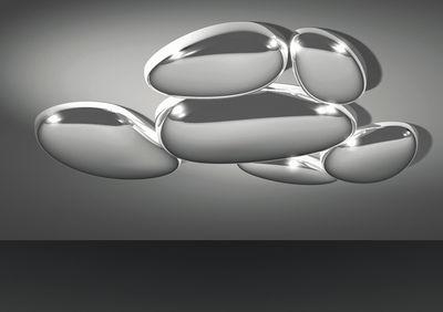 Illuminazione - Plafoniere - Plafoniera Skydro - modulo non elettrificato di Artemide - Cromato lucido - ABS, Ghisa di alluminio