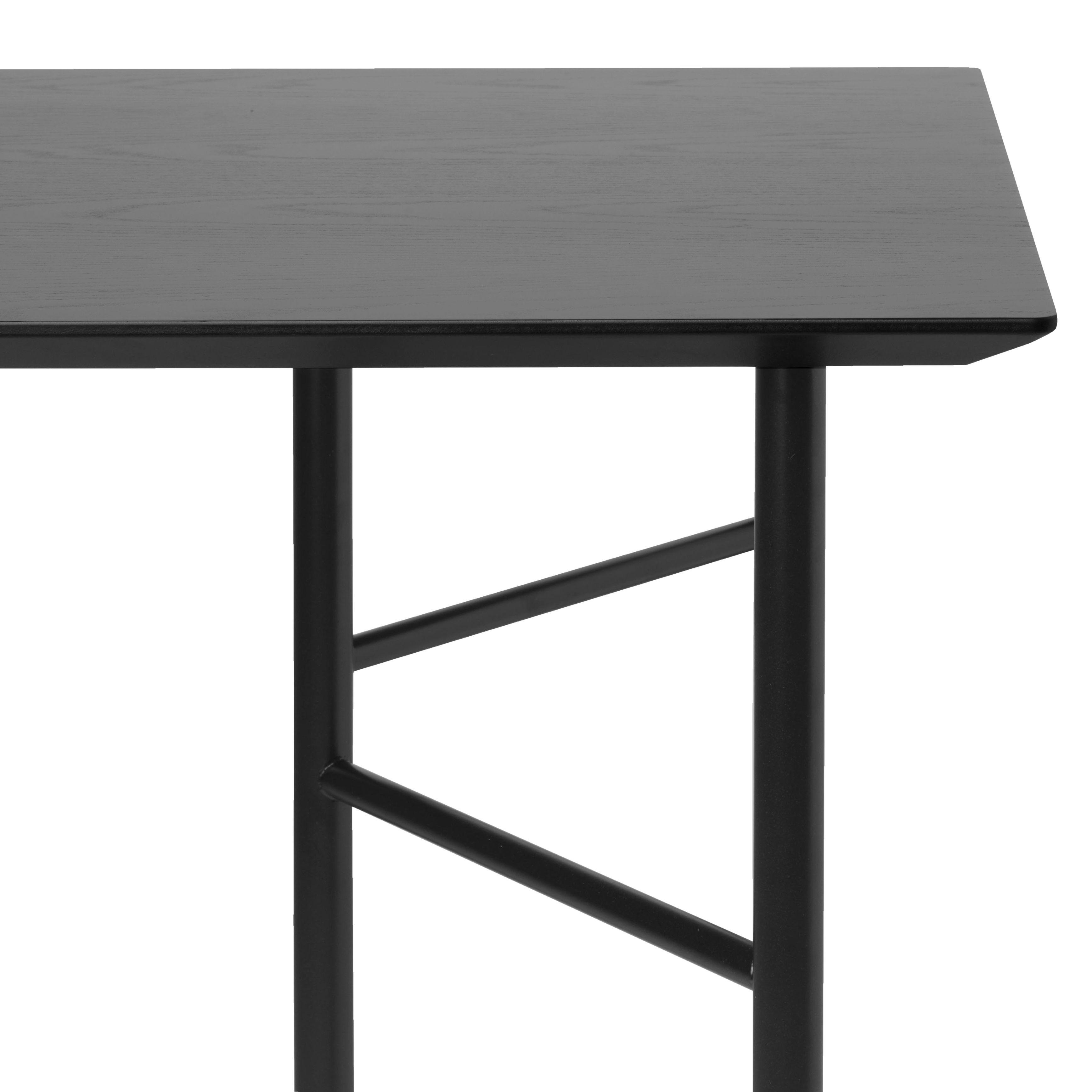 Mobilier - Bureaux - Plateau de table / Pour tréteaux Mingle Large - 160 x 90 cm - Ferm Living - Plateau 160x90 cm / Noir - MDF plaqué chêne laqué