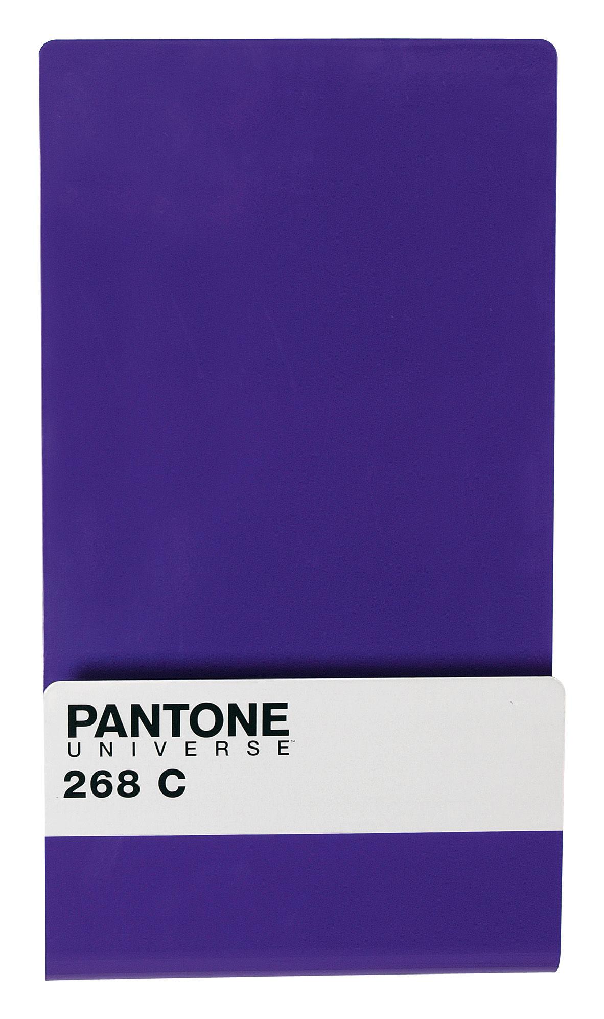 Déco - Accessoires bureau - Porte-revues Pantone / Tableau magnétique + 6 aimants - Seletti - 268C - Violet royal - Métal