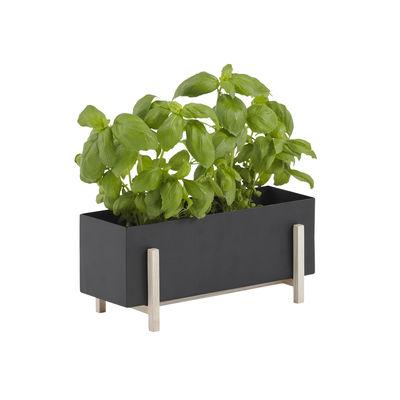 Pot de fleurs Botanic Box / 30 x 12 cm x H 13 cm - Design House Stockholm noir en métal