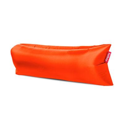 Pouf gonflable Lamzac 3.0 / L 200 cm - Polyester - Fatboy Pouf gonflé : L 200 x larg. 90 cm x H 50 cm - Pouf plié : L 35 x Ø 18 cm orange en tissu