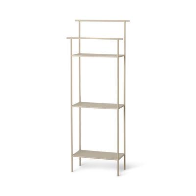 Arredamento - Scaffali e librerie - Scaffale Dora - / L 30 x Prof. 13 x H 79 cm - Porta-asciugamani integrato di Ferm Living - Beige Cachemire - Metallo