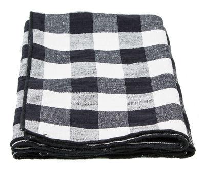Küche - Schürzen und Geschirrtücher - Toile Mimi Serviette / 45 x 45 cm - Maison de Vacances - Schwarz-weißes Karomuster - Baumwolle, Leinen