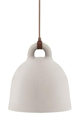 Illuminazione - Lampadari - Sospensione Bell - grande modello di Normann Copenhagen - Ø 55 x H 57 cm - Sabbia opaca & int. bianco - Alluminio