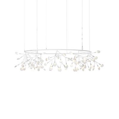 Illuminazione - Lampadari - Sospensione Heracleum The Big O - / Small - Ø 160 cm / LED di Moooi - bianca - Acciaio, Metallo, policarbonato