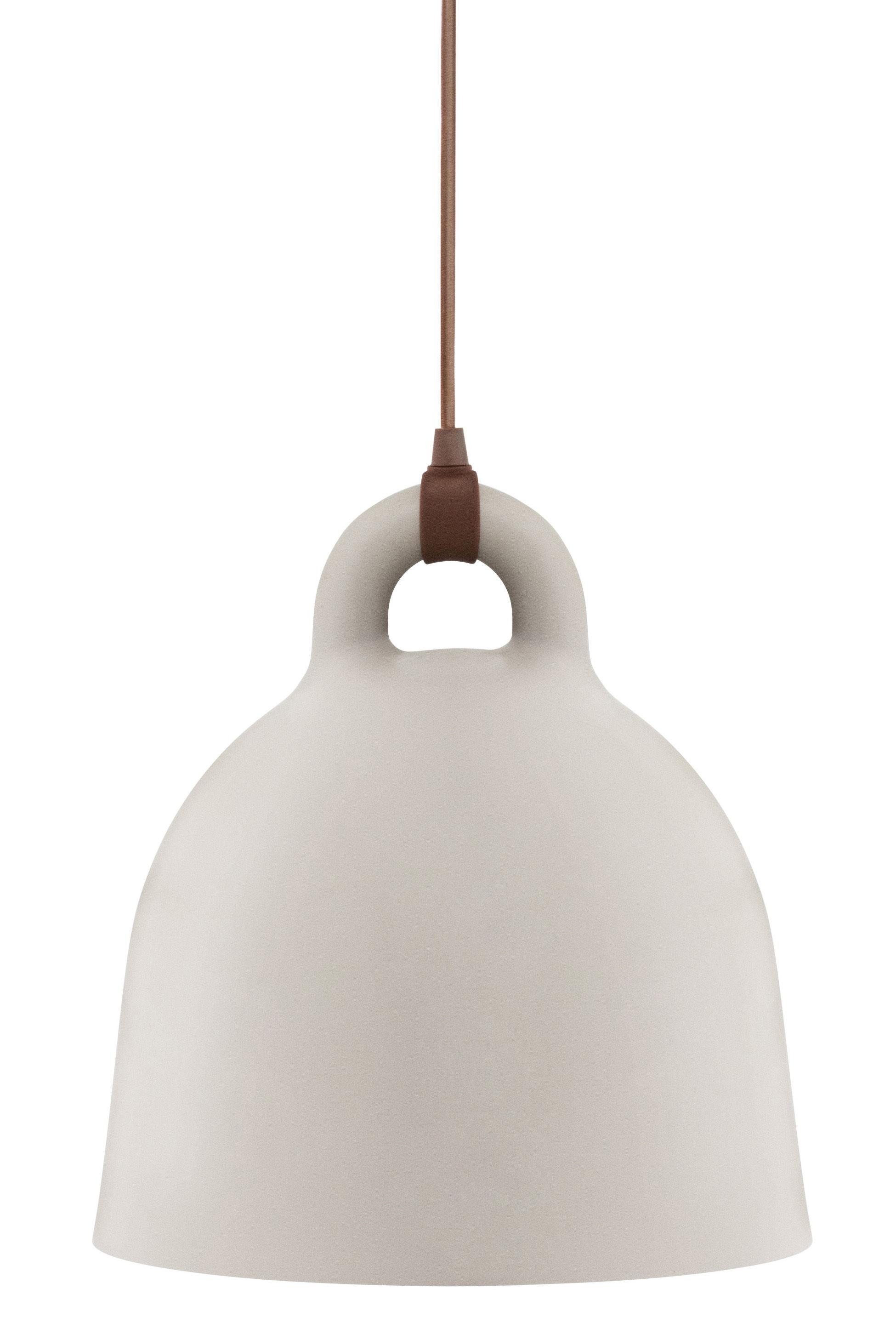 Luminaire - Suspensions - Suspension Bell / Large Ø 55 cm - Normann Copenhagen - Sable mat & Int. Blanc - Aluminium