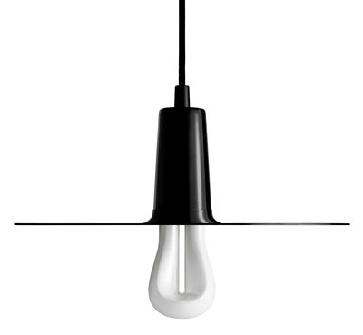 Suspension Drop Hat / Ampoule LED 002 incluse - Plumen noir en métal