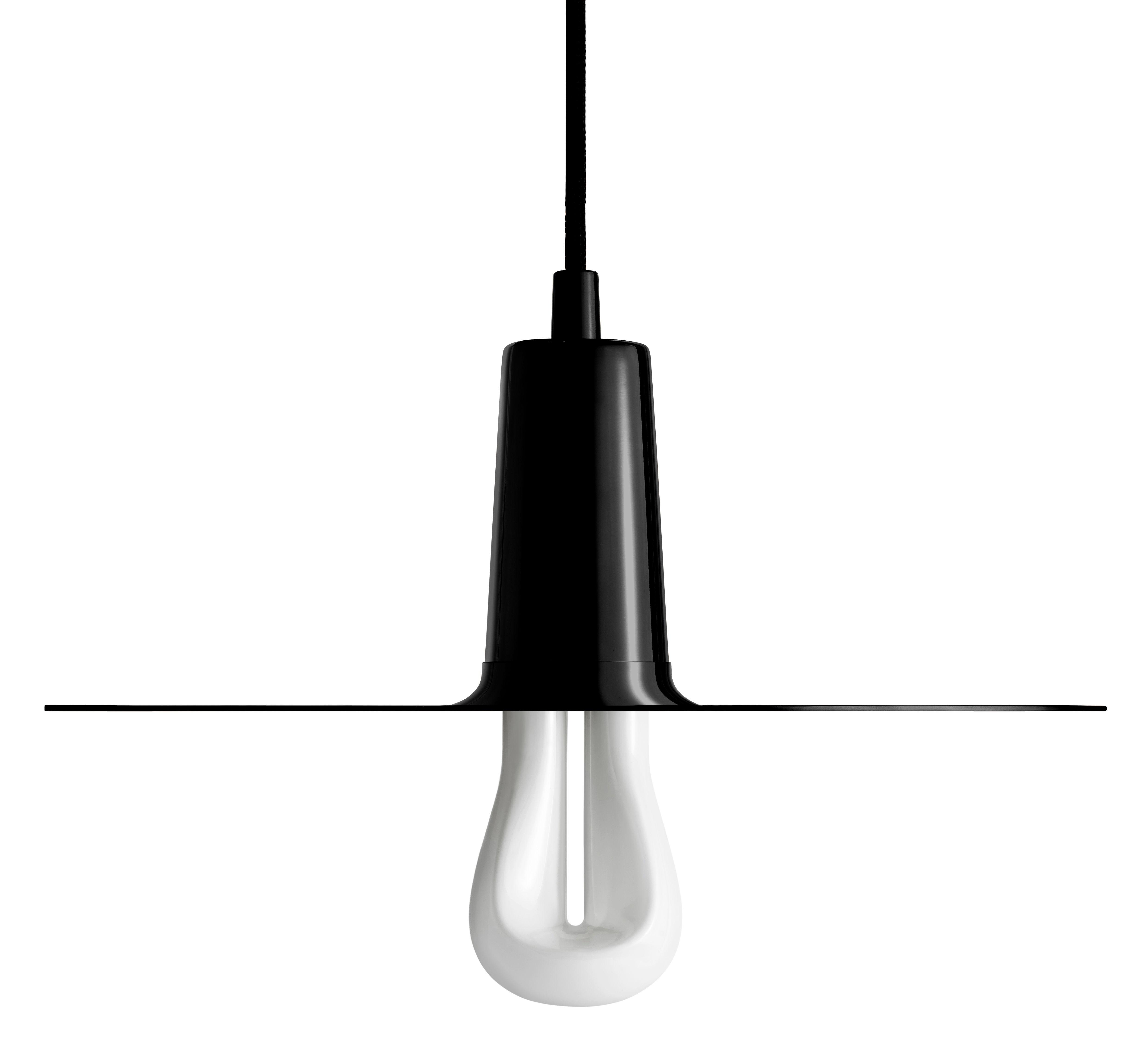 Luminaire - Suspensions - Suspension Drop Hat / Ampoule LED 002 incluse - Plumen - Noir - Acier