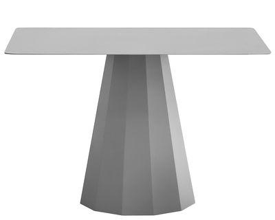 Table Ankara L / 120x120 cm - Matière Grise gris alu en métal