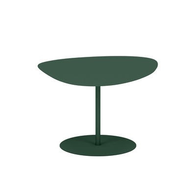 Table basse Galet n°2 OUTDOOR / 58 x 75 x H 39 cm - Matière Grise vert en métal