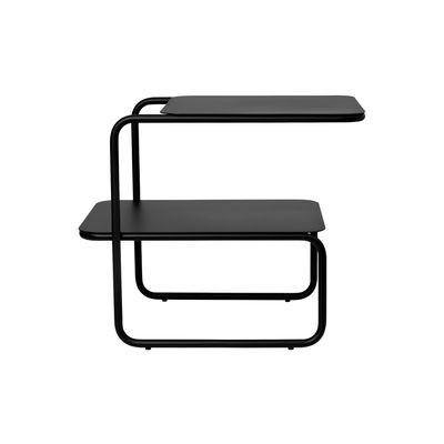Table d'appoint Level / 55 x 35 cm - Métal - Ferm Living noir en métal