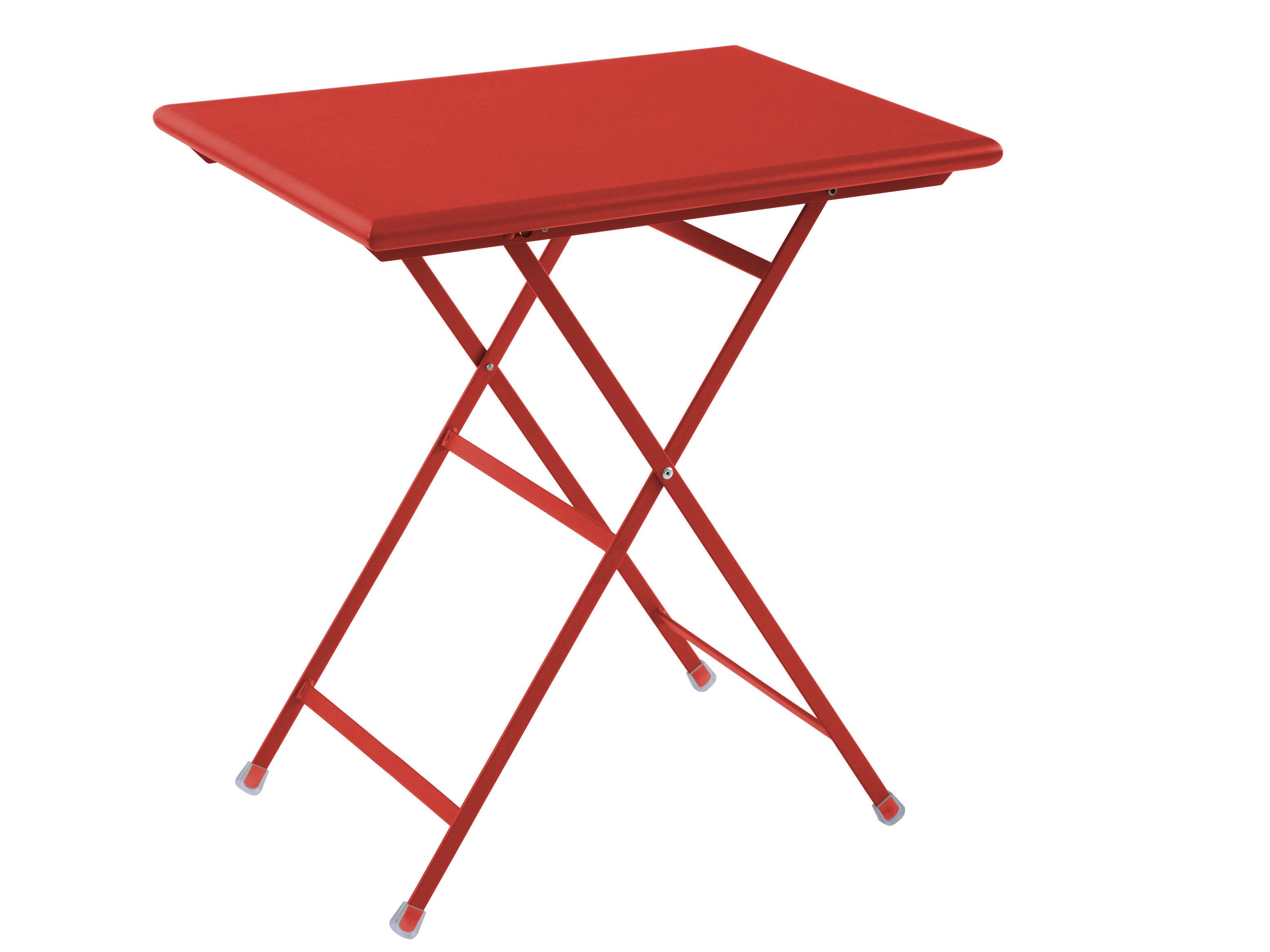 Table pliante Arc en Ciel Emu - Rouge - L 70 x l 50 x h 75   Made In ...