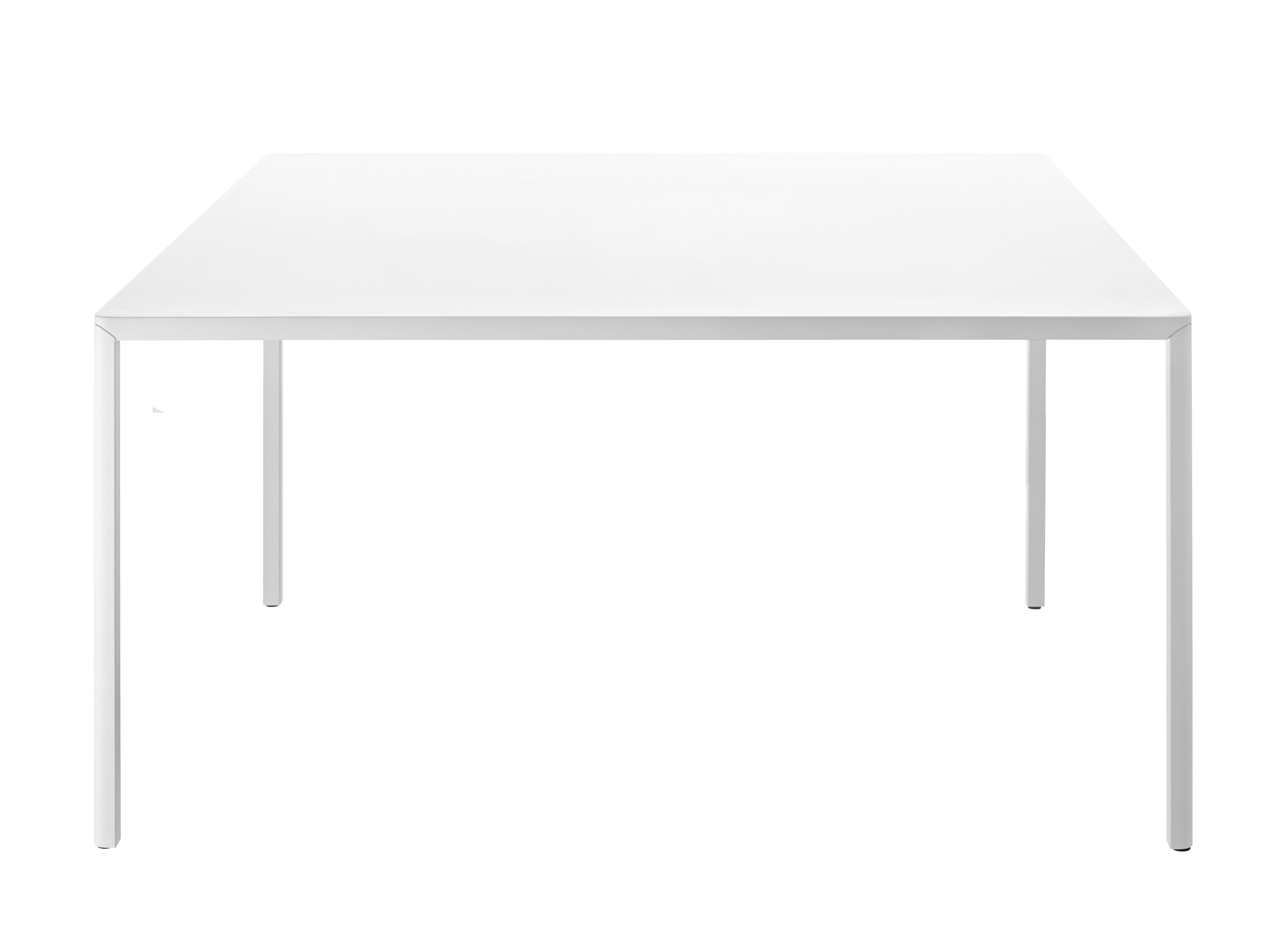 Outdoor - Tavoli  - Tavolo rettangolare Passe-partout Outdoor - / 180 x 90 cm di Magis - Bianco - Acciaio verniciato, alluminio verniciato