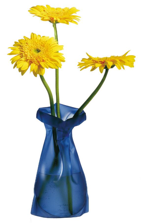 Decoration - Vases - Le Sack Vase - Modular by Pa Design - Blue - PVC