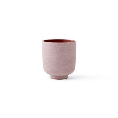 Image of Vaso per fiori Collect SC69 - / Ø 12 x H 13 cm - Polystone di &tradition - Rosa - Materiale plastico/Pietra