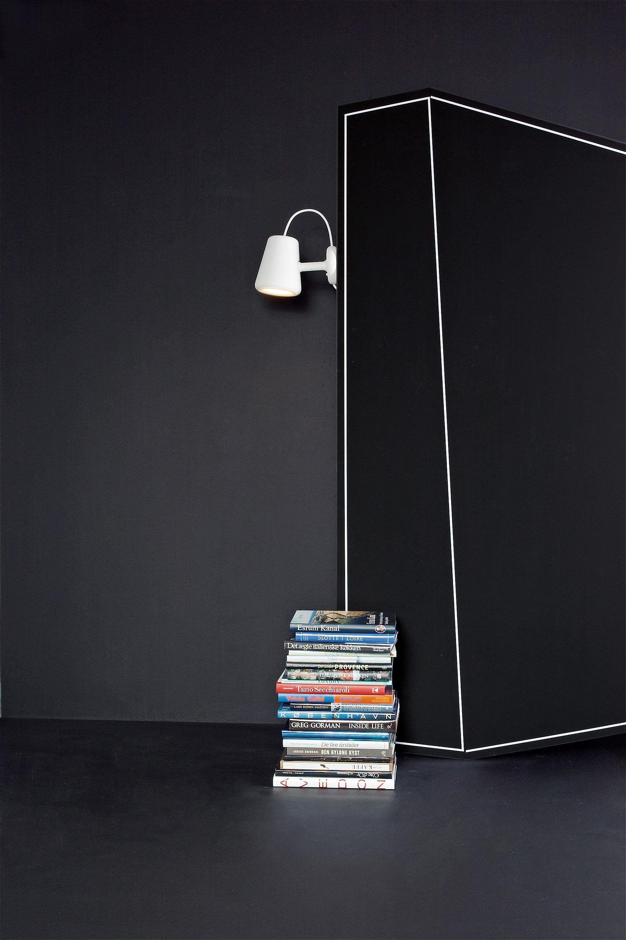 oj wandleuchte mit stromkabel mit netzstecker zum einstecken in die steckdose wei mit. Black Bedroom Furniture Sets. Home Design Ideas