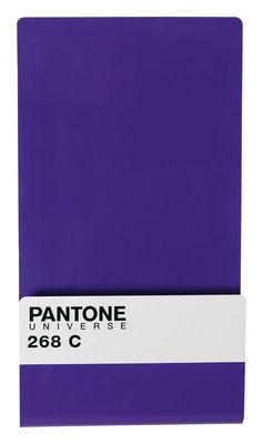 Dekoration - Büro - Pantone Zeitungsständer Magnettafel mit 6 Magneten - Seletti - 268 C - aubergine - Metall