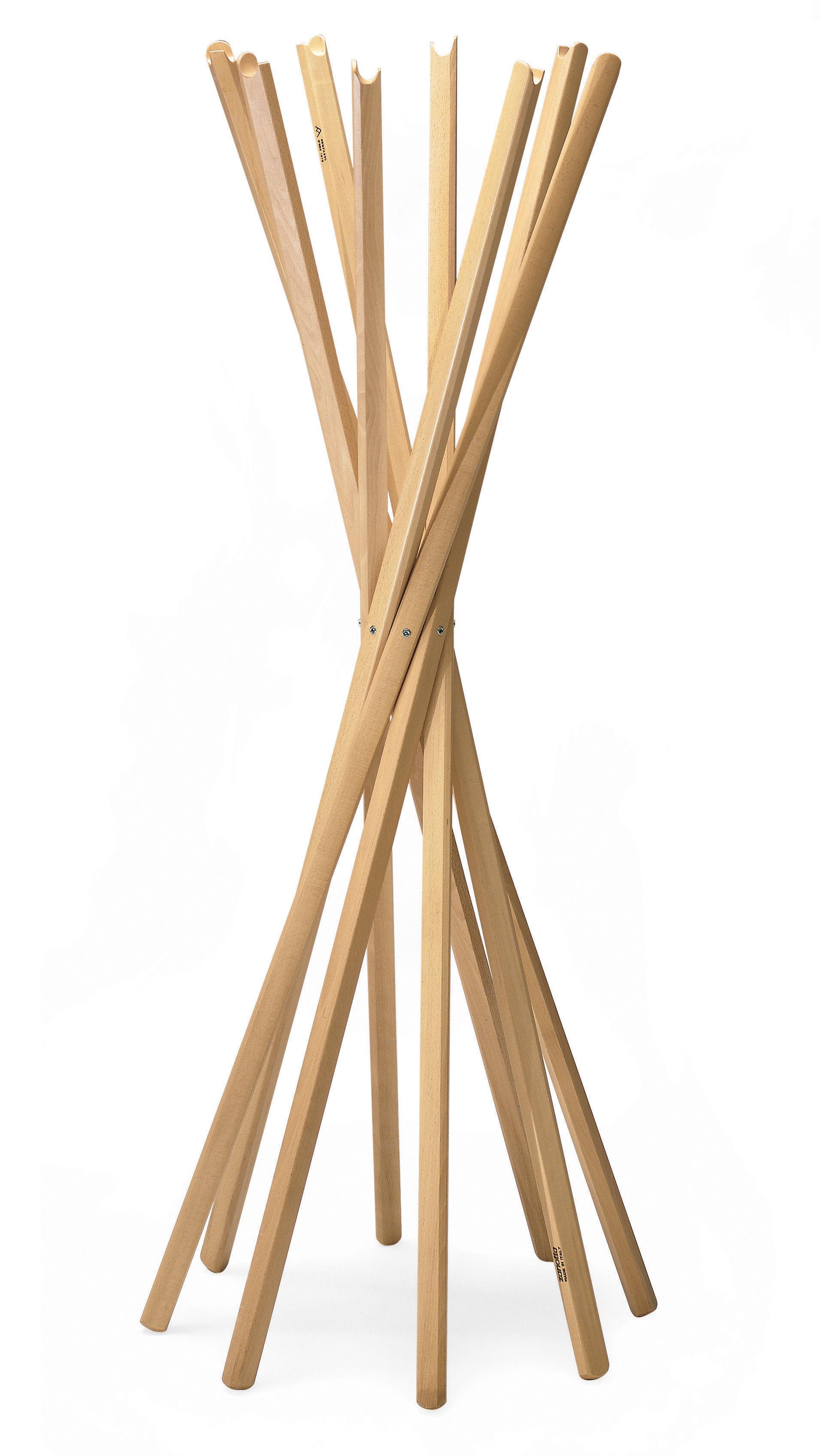 Arredamento - Appendiabiti  - Appendiabiti Sciangai di Zanotta - Faggio color naturale - Faggio verniciato