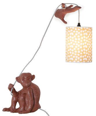 Luminaire - Lampes de table - Applique avec prise Monsieur Choco / Avec sa branche - Domestic - Chocolat - Céramique émaillée
