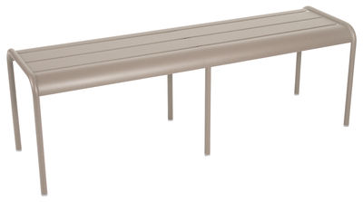 Life Style - Banc Luxembourg 3/4 places / L 145 cm - Aluminium - Fermob - Muscade - Aluminium laqué
