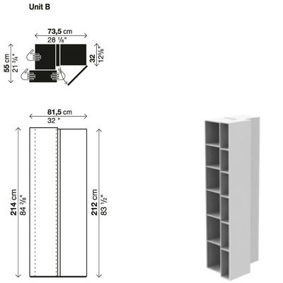 biblioth que blanc laqu. Black Bedroom Furniture Sets. Home Design Ideas