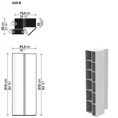Bibliothèque Blio /Élément B - Kristalia laqué blanc en matière plastique