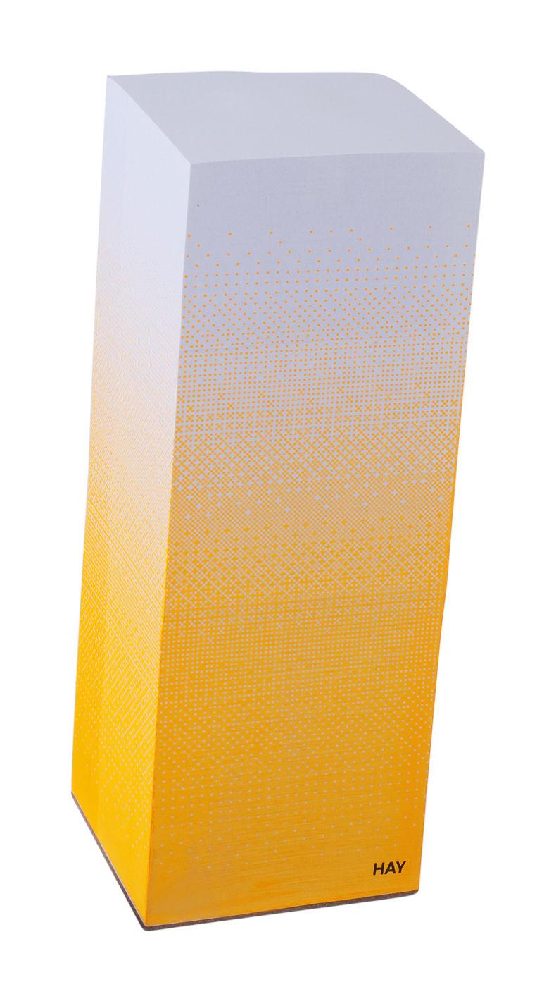 Déco - Accessoires bureau - Bloc-notes Tower block / H 20 cm - Hay - H 20 cm - Orange - Papier