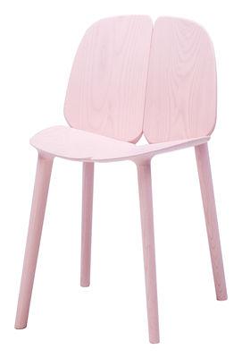 Mobilier - Chaises, fauteuils de salle à manger - Chaise Osso / Frêne teinté - Mattiazzi - Rose - Frêne teinté