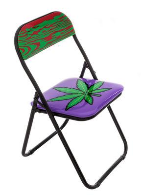Chaise pliante Weed rembourrée Seletti multicolore,noir en matière plastique