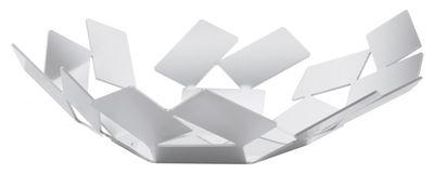 Corbeille La Stanza dello Scirocco / Ø 24 x H 6 cm - Alessi blanc en métal