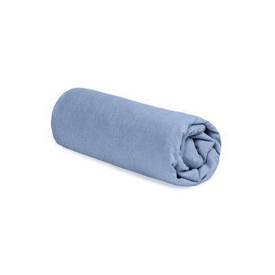 Interni - Tessili - Lenzuola con angoli 160 x 200 cm - / 160 x 200 cm - Lino lavato di Au Printemps Paris - Blu cielo - Lin lavé
