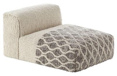 Furniture - Armchairs - Mangas Space Rhombus Easy chair - / L 120 cm by Gan - Ivory - Rubber foam, Virgin wool