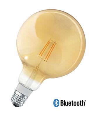 Image of Lampadina LED E27 connessa - / Smart+ - Incandescenza Globe - 5,5W=45W di Ledvance - Oro - Vetro