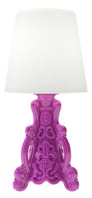 Lampe à poser Lady of Love / Pour l´intérieur - H 88 cm - Design of Love by Slide blanc,fuschia en matière plastique