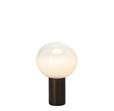 Luminaire - Lampes de table - Lampe de table Laguna / Ø 16 x H 24 cm - Artemide - Bronze - Aluminium, Verre soufflé