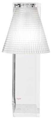 Lampe de table Light-Air / Abat-jour plastique sculpté - Kartell transparent en matière plastique