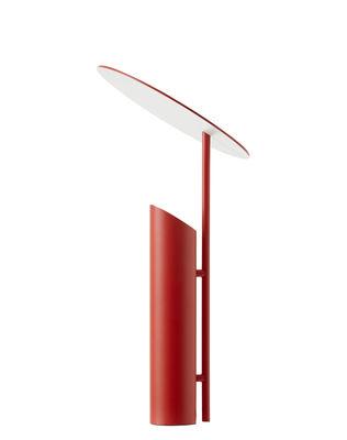 Luminaire - Lampes de table - Lampe de table Reflect / Verner Panton ( 1980) - Verpan - Rouge - Acier laqué époxy