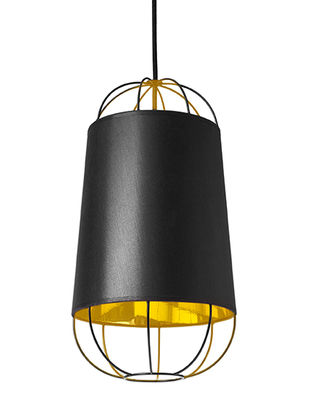 Lighting - Pendant Lighting - Lanterna Small Pendant by Petite Friture - Black / Gold - Cotton, Lacquered steel, PVC