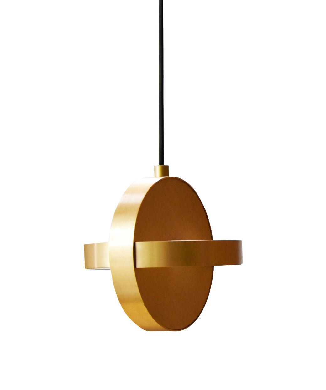 Lighting - Pendant Lighting - Plus LED Pendant - / Aluminium by ENOstudio - Brass - Anodized aluminium