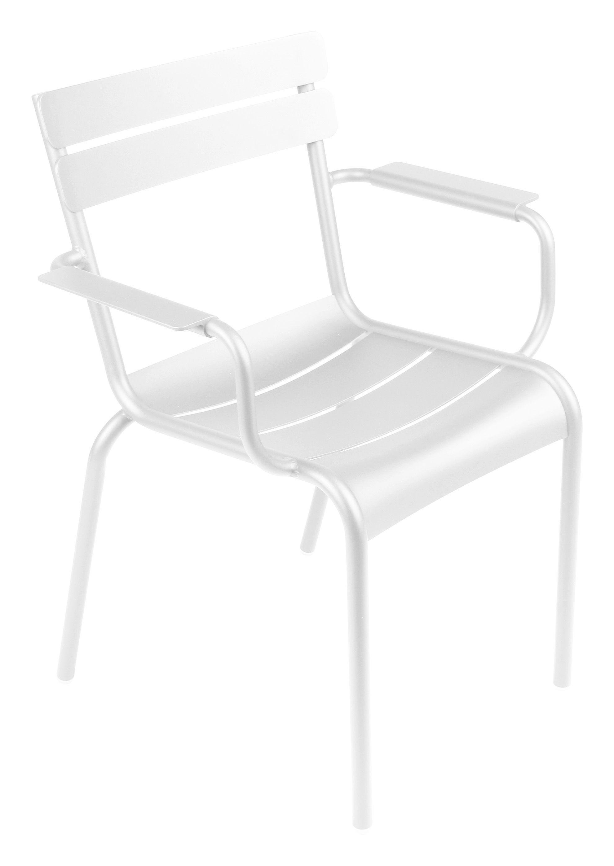 Life Style - Poltrona impilabile Luxembourg di Fermob - Bianco - Alluminio laccato