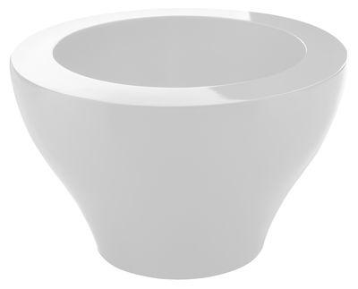 Pot de fleurs Ming large - Serralunga blanc en matière plastique