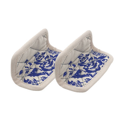 Kitchenware - Kitchen Equipment - Ma Jolie Cocotte Potholder - / Set of 2 - Cotton by Cookut - Blue & White - Cotton