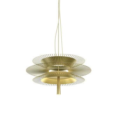 Illuminazione - Lampadari - Sospensione Gravity 2 LED - / Ø 68 cm x H 34,5 cm - Metallo di Forestier - Champagne - Metallo