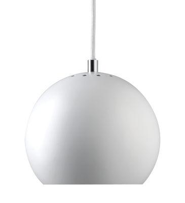 Luminaire - Suspensions - Suspension Ball Small / Ø 18 cm - Réédition 1968 - Frandsen - Blanc mat - Métal peint