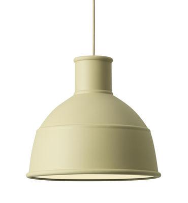 Suspension Unfold / en silicone - Muuto beige-vert en matière plastique