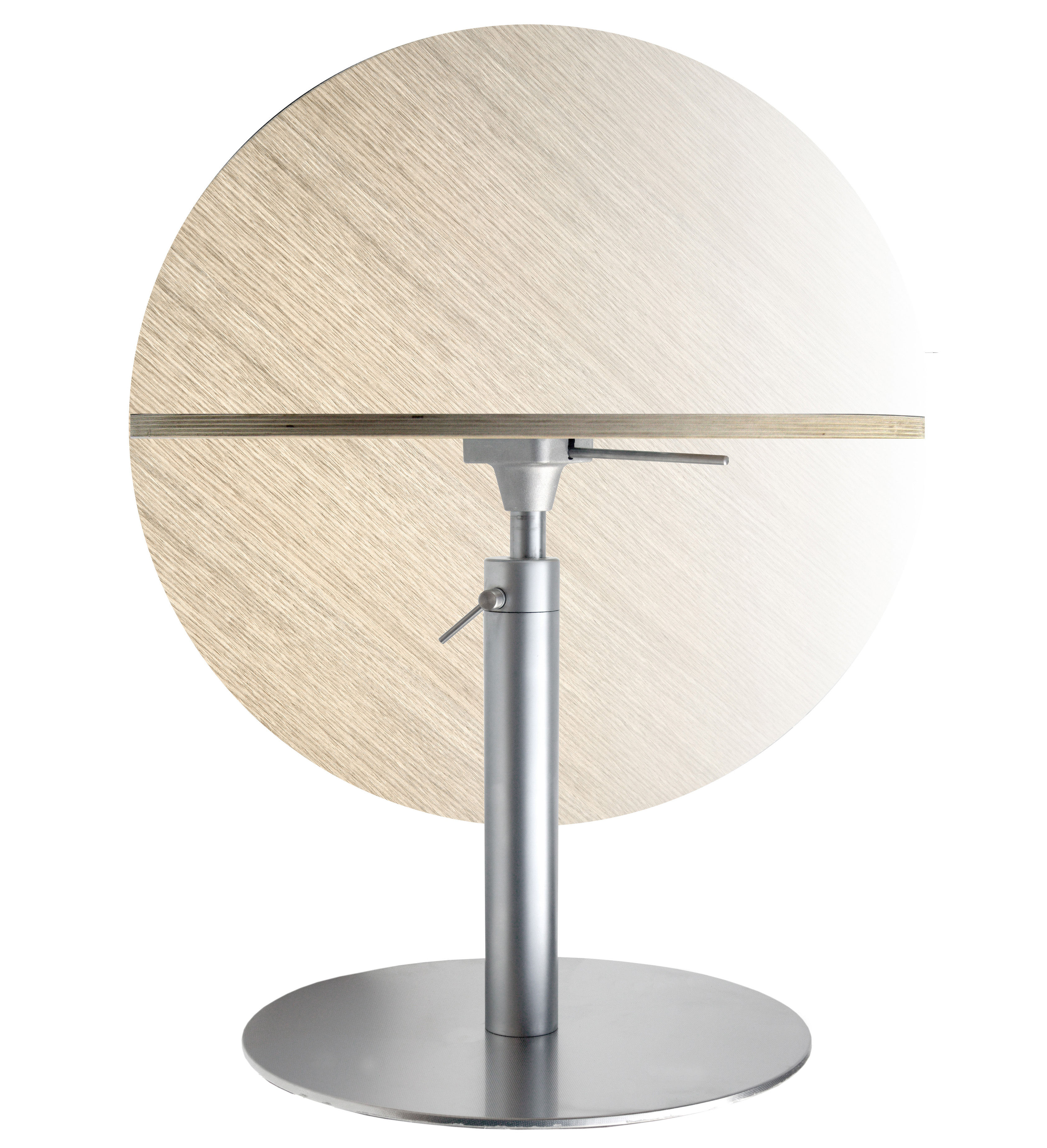 table hauteur rglable rondo 90 cm chne blanchi lapalma made in design - Table Basse Hauteur Reglable