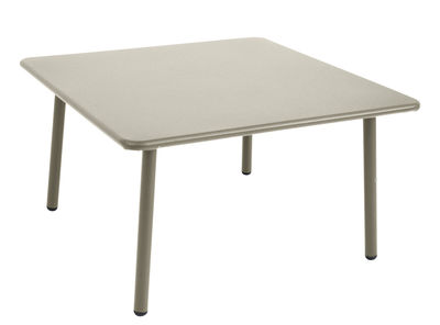 Mobilier - Tables basses - Table basse Darwin / 70 x 70 cm - Emu - Gris - Acier verni