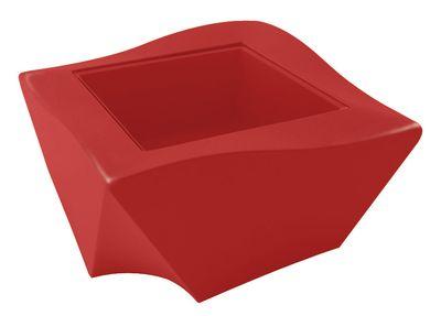 Table basse Kami Ni version laquée - Slide laqué rouge en verre